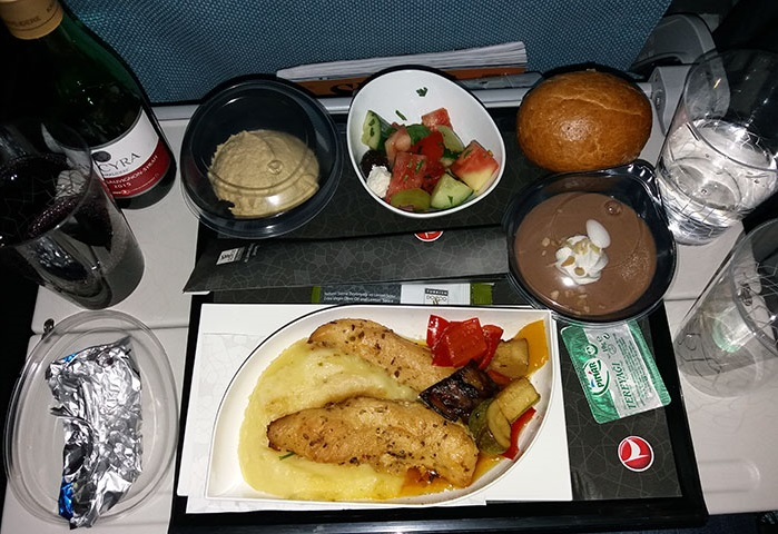 Turkish Airlines - dishes