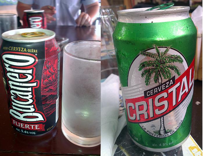 Cuban beers Bucanero Cristal