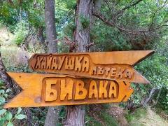 Някъде в гората по екопътека Бивака