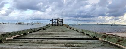 Изоставено частно пристанище за лодки