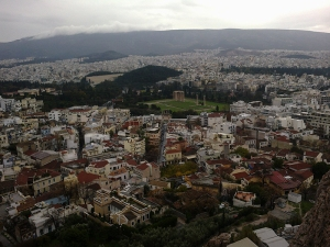 Изглед към Атина от Акропола