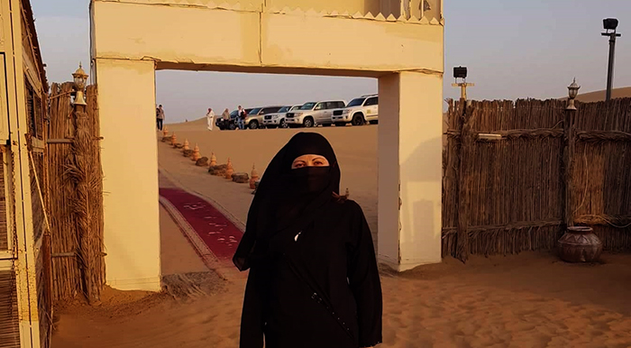 Me with burka