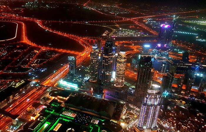 Burj Khalifa-at the top-view