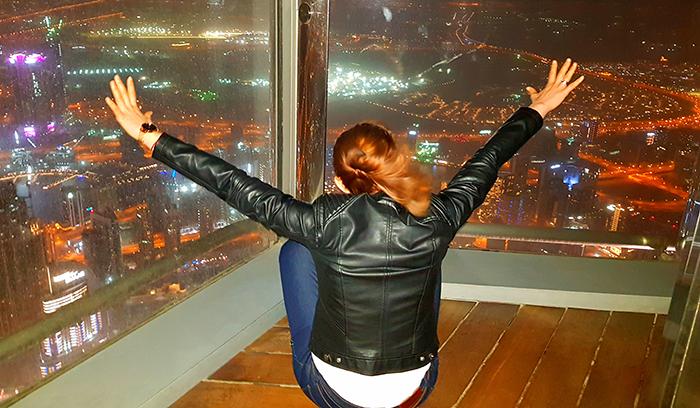 Me Burj Khalifa at the top