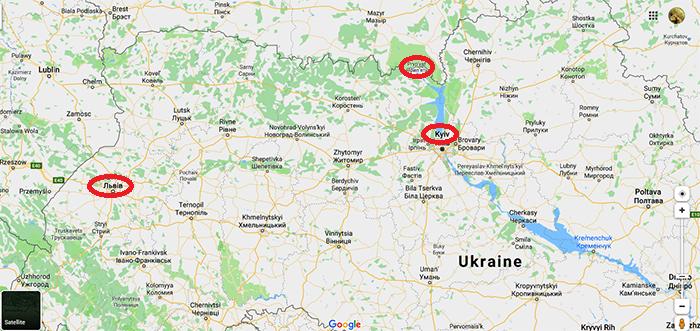 Ukraine map - TRIP