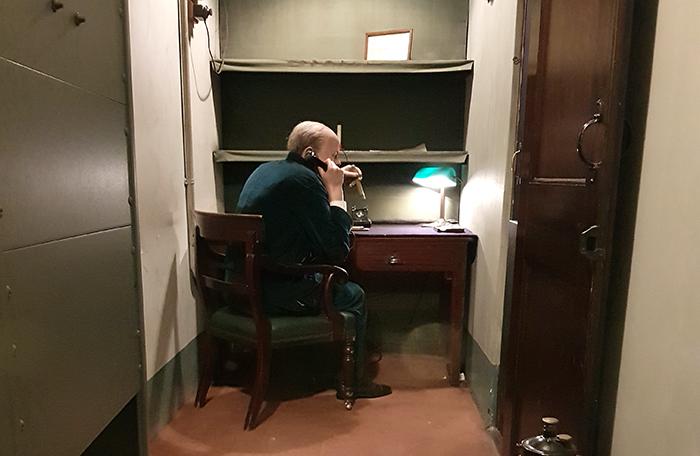 Churchill on the phone