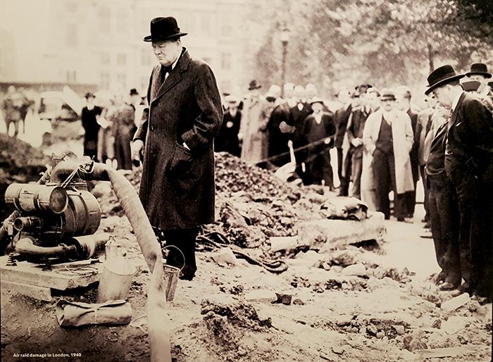 Churchill visiting